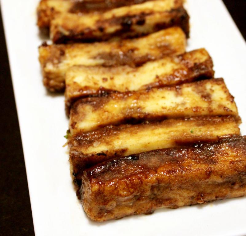 5分おつまみ!高野豆腐のバルサミコステーキ。