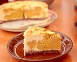 パンプキンスワールチーズケーキ