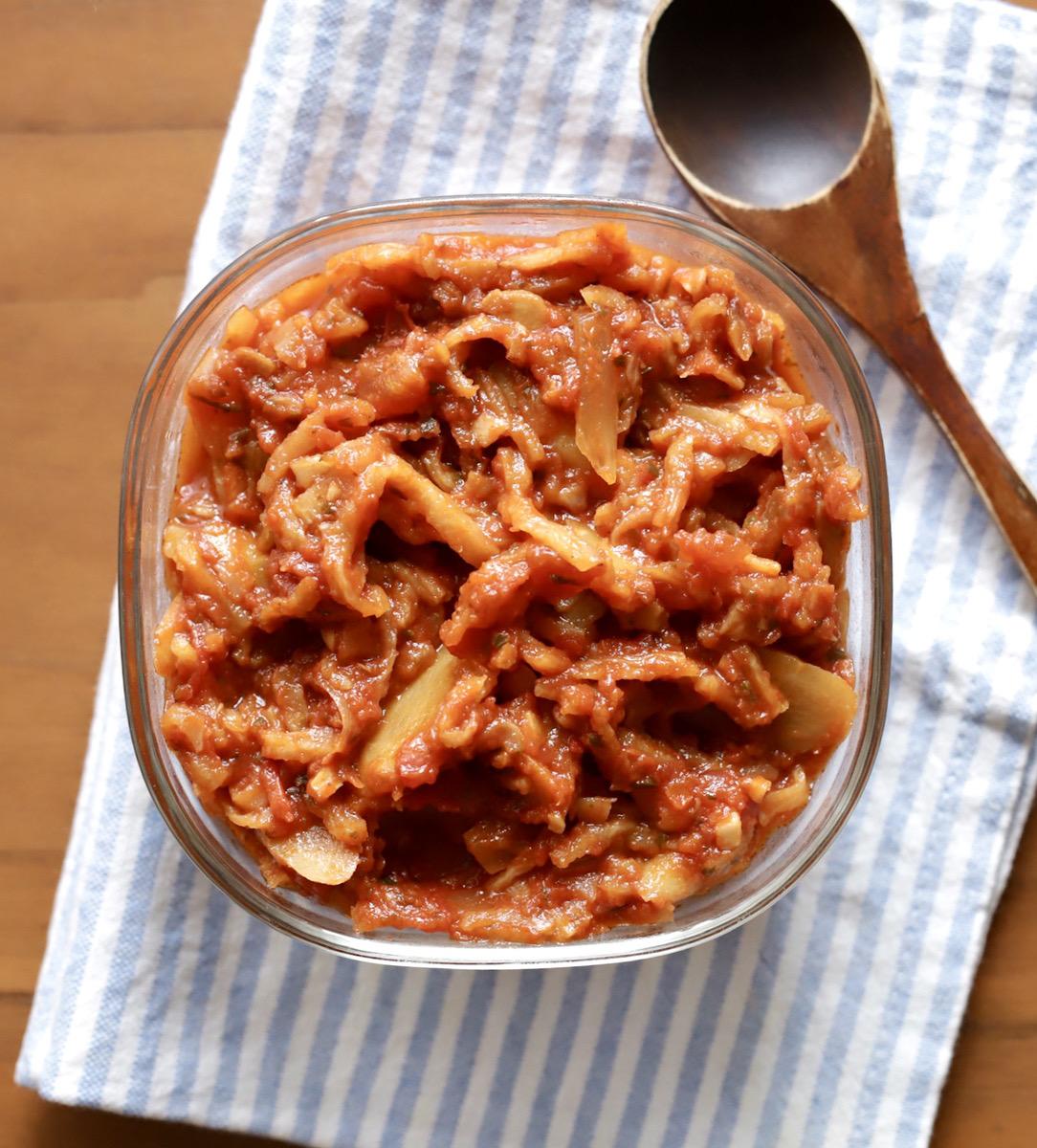 切り干し大根のトマト煮