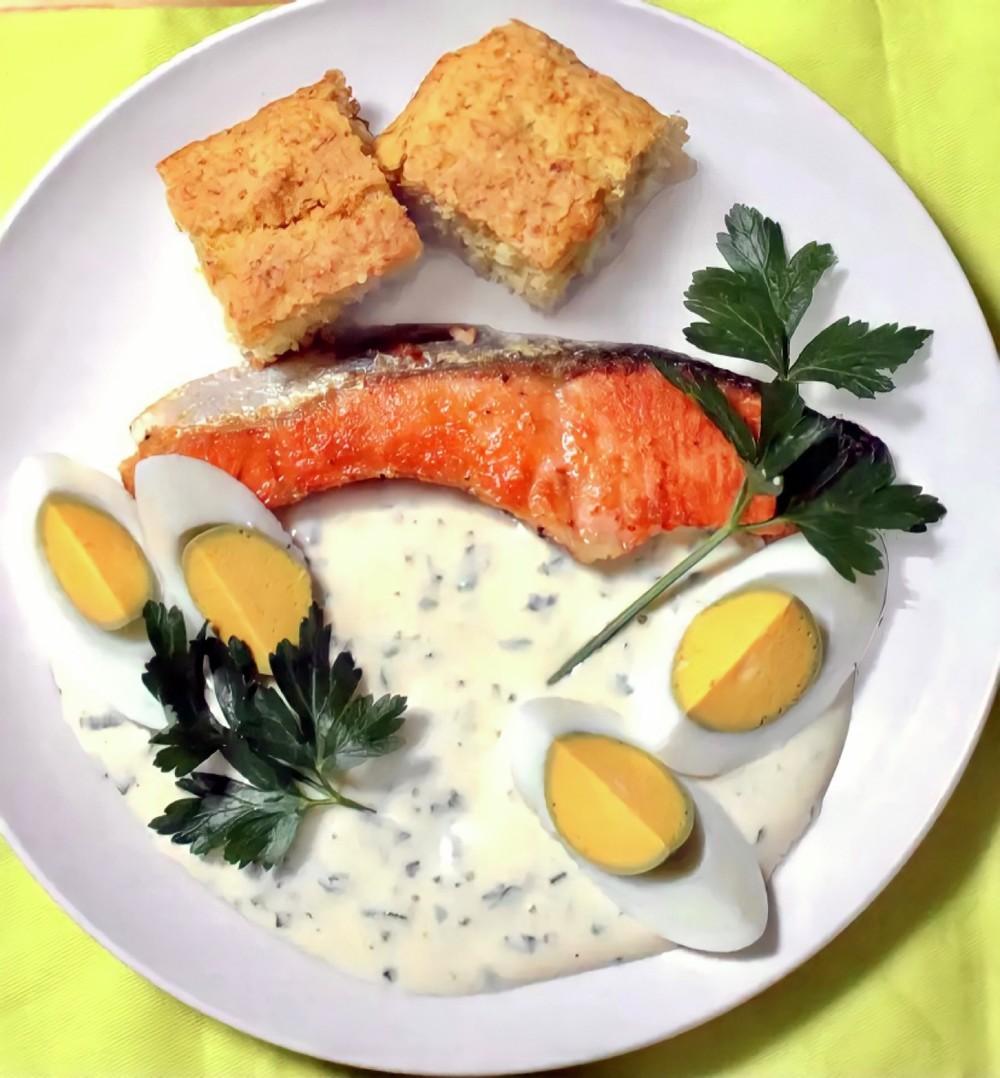生鮭のバターソテー